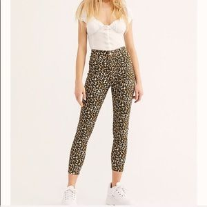 Free People Belle leopard printed skinny pants